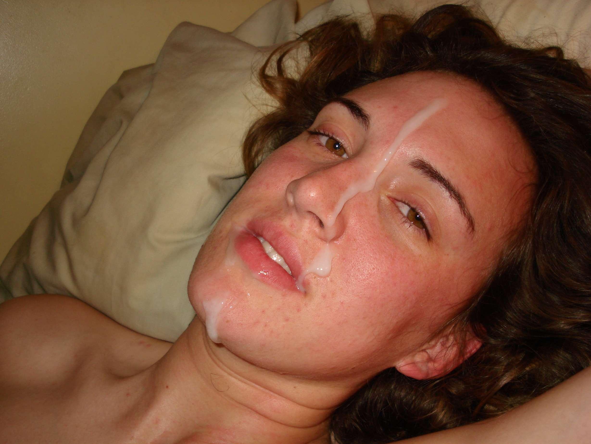 Частное фото сперма на лице